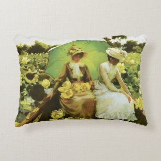 Lotus Lilies by Charles Courtney Curran Decorative Pillow