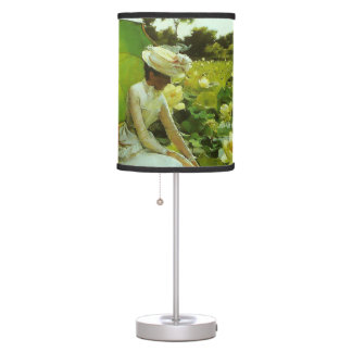 Lotus Lilies by Charles Courtney Curran Table Lamps