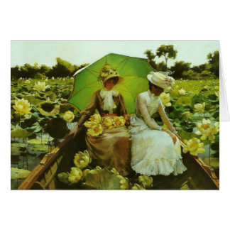 Lotus Lilies by Charles Courtney Curran Note Card