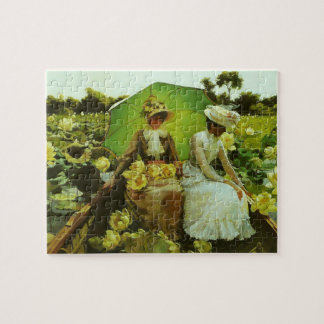 Lotus Lilies by Charles Courtney Curran Jigsaw Puzzles