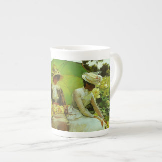Lotus Lilies by Charles Courtney Curran Tea Cup