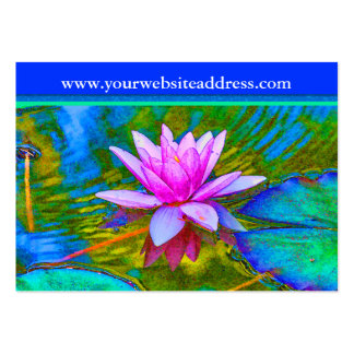 Lotus Lily Flower - Yoga Studio, Spa, Beauty Salon Large Business Cards (Pack Of 100)