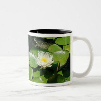 Lotus/Lilypads & Turtle Mug