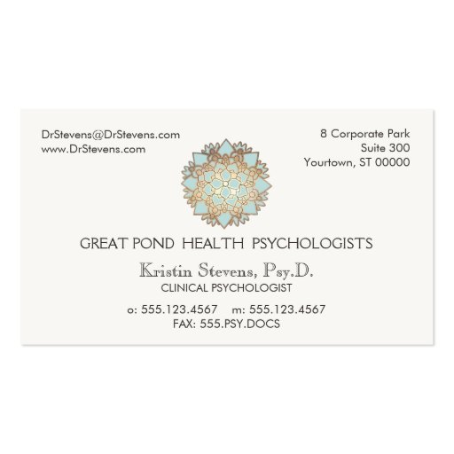 Lotus Logo Holistic Alternative Appointment Card Business Card Template
