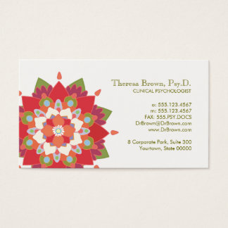 Lotus Logo Wellness and Mental Health Appointment Business Card