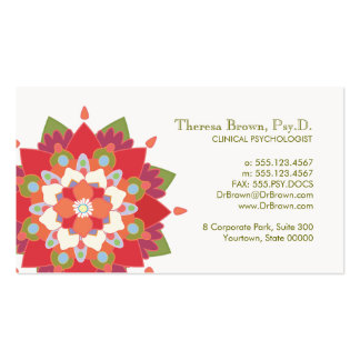 Lotus Logo Wellness and Mental Health Appointment Double-Sided Standard Business Cards (Pack Of 100)