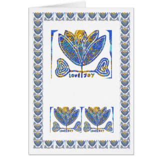 Lotus Love Joy - Space to add your text image Card