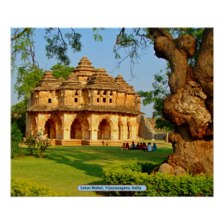 Lotus Mahal, Vijayanagara, India Poster