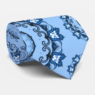 Lotus Mandala (Blue) Tie