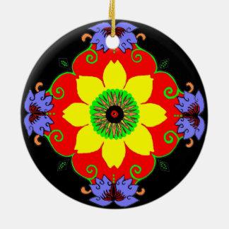 Lotus Mandala Ceramic Ornament