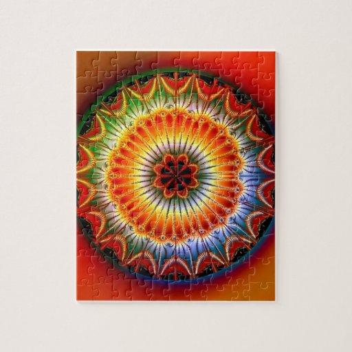 Lotus Mandala Fractal Jigsaw Puzzle