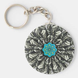 Lotus Mandala Fractal Keychain