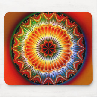 Lotus Mandala Fractal Mouse Pad