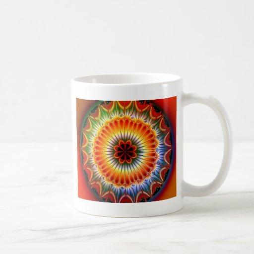 Lotus Mandala Fractal Mugs