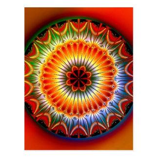 Lotus Mandala Fractal Postcard