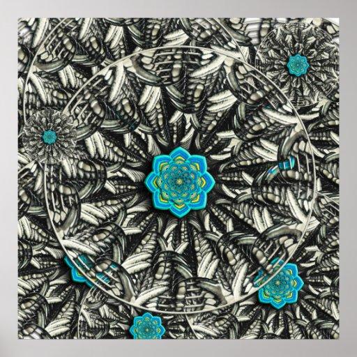 Lotus Mandala Fractal Poster