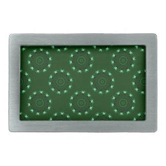 Lotus Mandala (Green) Rectangular Belt Buckle