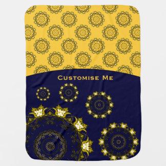 Lotus Mandala (Henna) (Golden) Receiving Blanket