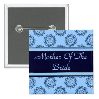 Lotus Mandala (Henna) (Wedding) Button
