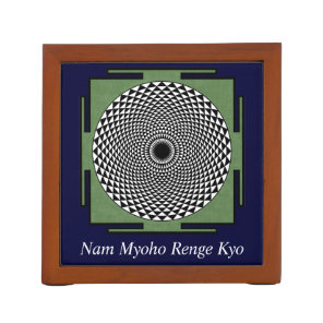 Lotus mandala Nam Myoho Renge Kyo Pencil/Pen Holder