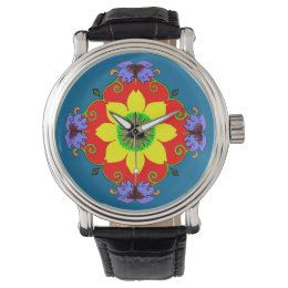 Lotus Mandala Wristwatch