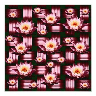 Lotus Maroon Weave Card