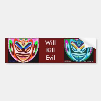 Lotus Mascot  - Will Kill Evil Bumper Sticker