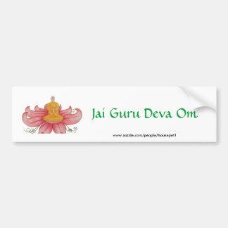 Lotus Meditation detail, Jai Guru Deva Om Car Bumper Sticker