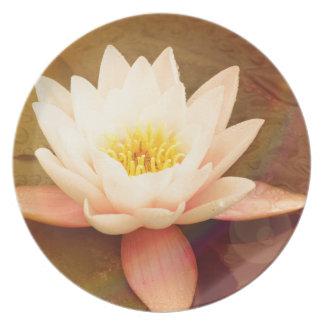Lotus Melamine Plate