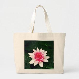 Lotus - Mixed media Canvas Bag