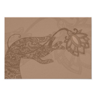 Lotus Mudra Mehndi small poster