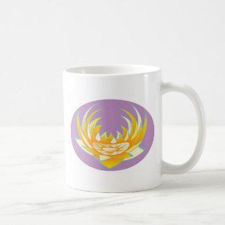 Lotus n Sun Chakra diseña abril de 2011 Taza De Café