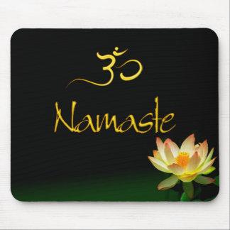 Lotus Namaste mousepad with om