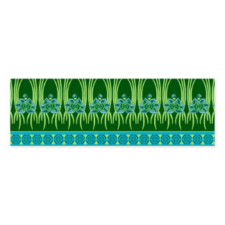 LOTUS NOUVEAU: BLUE GREEN SCENE Double-Sided MINI BUSINESS CARDS (Pack OF 20)