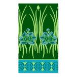 LOTUS NOUVEAU: BLUE GREEN SCENE BUSINESS CARD