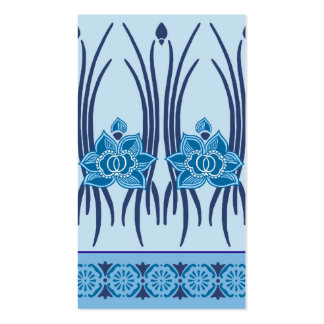 LOTUS NOUVEAU: BLUE MONDAY Double-Sided STANDARD BUSINESS CARDS (Pack OF 100)