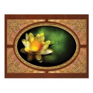 Lotus - Nymphaea - lirio amarillo Postal