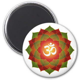 Lotus Om Design Magnet