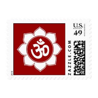 Lotus Om Design Postage Stamp