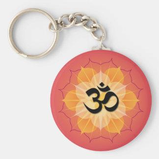 Lotus Om Keychain