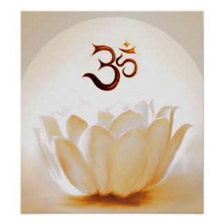 Lotus Om with Póster