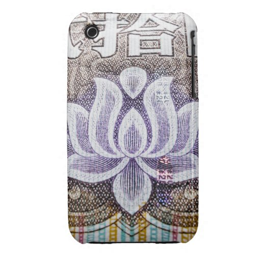 Lotus on a Chinese Yuan Case-Mate iPhone 3 Cases