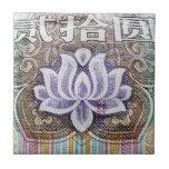 Lotus on a Chinese Yuan Tile