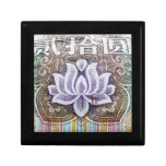 Lotus on a Chinese Yuan Trinket Boxes