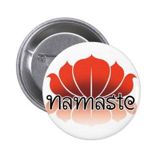 Lotus Orange Pinback Button