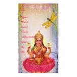 Lotus pacífico y libélula tarjeta de negocio