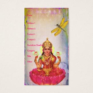 Lotus pacífico y libélula tarjetas de visita