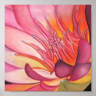 Lotus Painting Poster