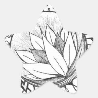 Lotus Pegatina En Forma De Estrella