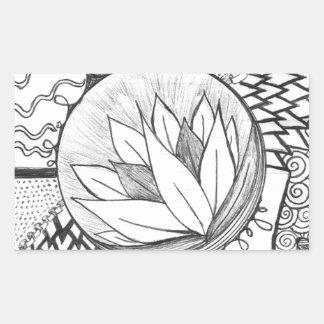 Lotus Pegatina Rectangular